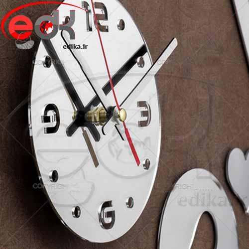 ساعت دیواری آینه طرح خاطره