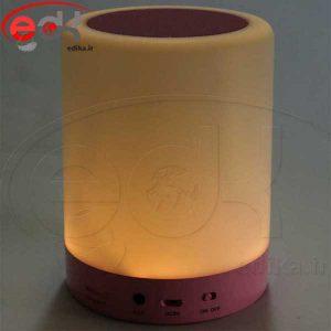 اسپیکر بلوتوثی رم و فلش خور چراغ خواب هوشمند Smart Music Lamp