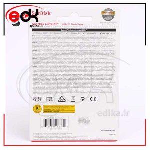 فلش USB3.1 پرسرعت و کوچک 16و32 گیگ Sandisk Ultra Fit