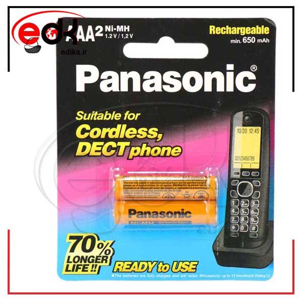 باتری نیم قلمی شارژی Panasonic HHR-4MRT/2BM