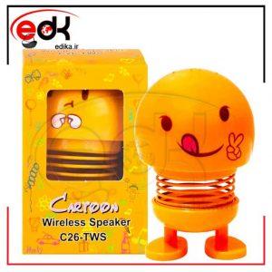 اسپیکر بلوتوثی ایموجی فنری C26-TWS
