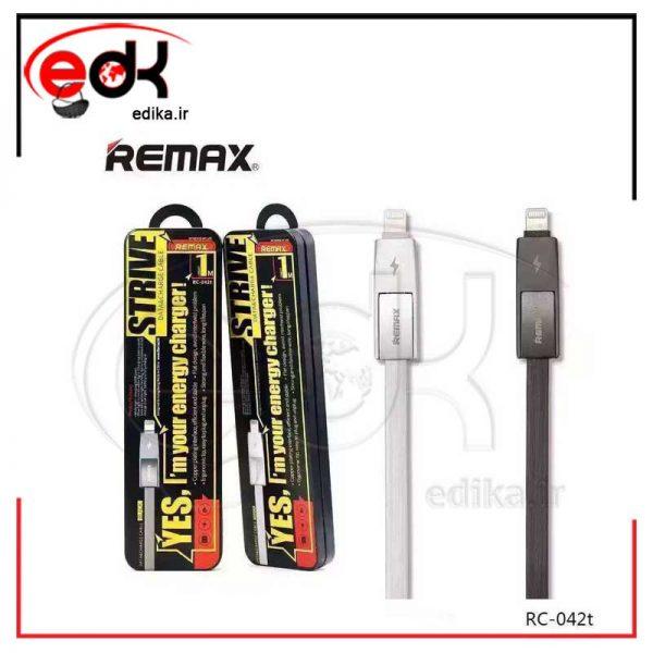 کابل فلت دو کاره اندروید-آیفون REMAX RC-042T