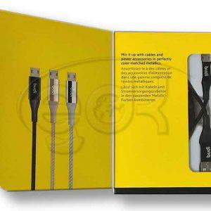 کابل میکرو یو اس بی بودی Budi Micro USB Cable توان 2.4 آمپرکابل میکرو یو اس بی بودی Budi Micro USB Cable توان 2.4 آمپر