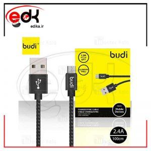 کابل میکرو یو اس بی بودی Budi Micro USB Cable توان 2.4 آمپر