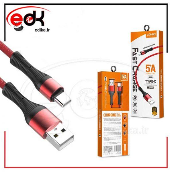 کابل تبدیل USB به USB-C الدینیو مدل LS405 طول 1 متر