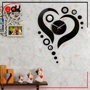 ساعت دیواری فانتزی طرح عشق مروارید