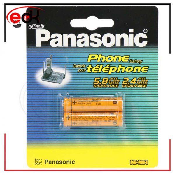 باتری ۲ تایی نیم قلمی شارژی Panasonic