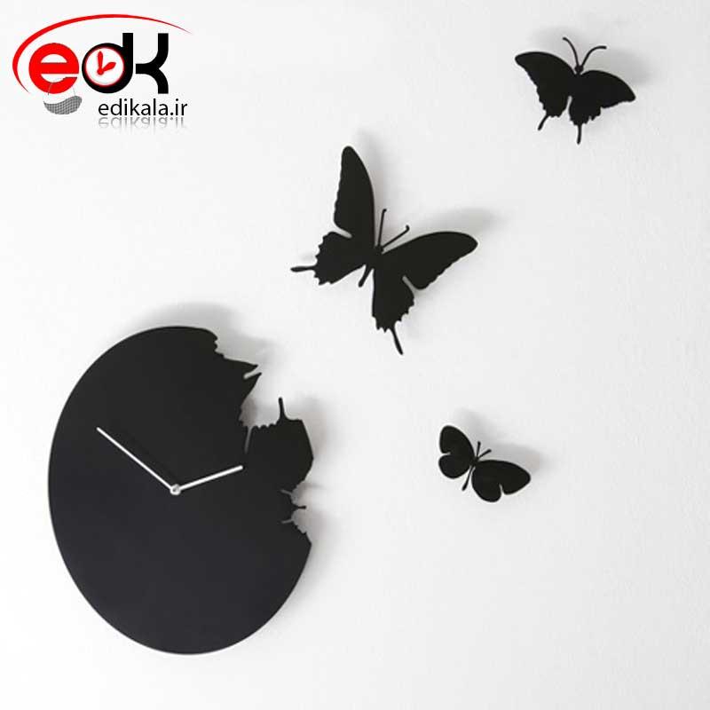 ساعت دیواری فانتزی طرح پرواز پروانه ها