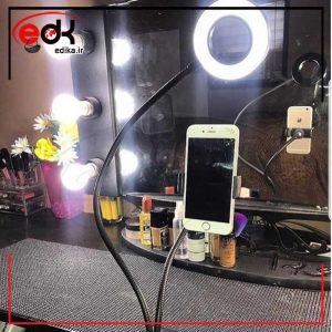 رینگ لایت رو میزی به اضافه هلدر موبایل