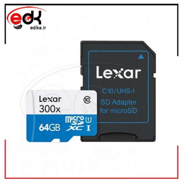 رم میکرو 64 گیگ پر سرعت مدل LEXAR سرعت 633X