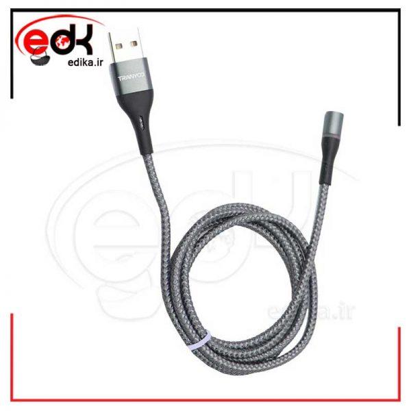 کابل ۳ سر مگنتی فست شارژ Tranyoo XS4 2.4A 1m