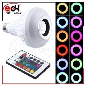 لامپ LED اسپیکر دار بلوتوثی LED Music Bulb 12W E27 + ریموت کنترل