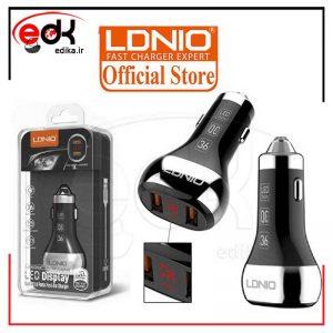 شارژر فندکی الدینیو مدل C2 به همراه کابل تبدیل USB-C
